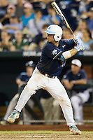 North Carolina catcher Brian Holberton (10) at bat during Game 10 of the 2013 Men's College World Series against the North Carolina State Wolfpack on June 20, 2013 at TD Ameritrade Park in Omaha, Nebraska. The Tar Heels defeated the Wolfpack 7-0, eliminating North Carolina State from the tournament. (Andrew Woolley/Four Seam Images)