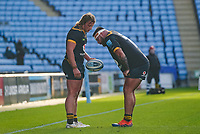22nd November 2020; Ricoh Arena, Coventry, West Midlands, England; English Premiership Rugby, Wasps versus Bristol Bears; Tommy Taylor of Wasps discusses line out tactics