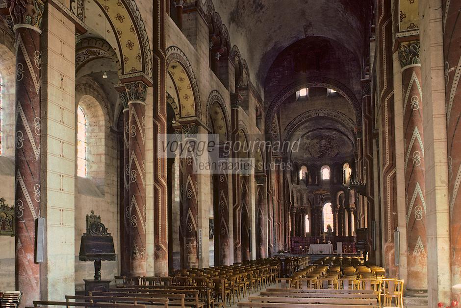 Europe/France/Auverne/63/Puy-de-Dôme/Issoire: Nef de l'abbatiale Saint-Austremoine
