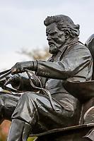 Oklahoma City, Oklahoma.  Oklahoma Land Run Monument, Sculptor Paul Moore.  Teamster, Wagon Driver.