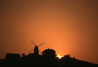 Europe/France/Champagne-Ardenne/51/Marne/Parc National Montagne de Reims/Verzenay: le moulin à vent domine le vignoble Champenois de la Montagne de Reims