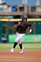 Bradenton Marauders Cal Mitchell (34) running the bases during a Florida State League game against the Palm Beach Cardinals on May 10, 2019 at LECOM Park in Bradenton, Florida.  Bradenton defeated Palm Beach 5-1.  (Mike Janes/Four Seam Images)