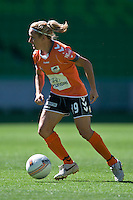MELBOURNE, AUSTRALIA - DECEMBER 4: Lisa de Vanna of the Roar controls the ball in round 5 of the Westfield W-league match between Melbourne Victory and Brisbane Roar on 4 December 2010 at AAMI Park in Melbourne, Australia. (Photo Sydney Low / asteriskimages.com)