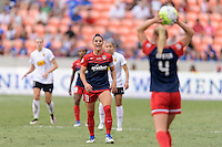 Houston, TX - Sunday Oct. 09, 2016: Ali Krieger, Megan Oyster during the National Women's Soccer League (NWSL) Championship match between the Washington Spirit and the Western New York Flash at BBVA Compass Stadium. The Western New York Flash win 3-2 on penalty kicks after playing to a 2-2 tie.