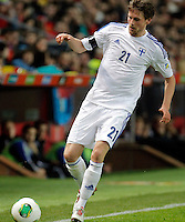 Finland's Hamalainen during international match of the qualifiers for the FIFA World Cup Brazil 2014.March 22,2013.(ALTERPHOTOS/Victor Blanco)