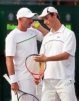 23-06-11, Tennis, England, Wimbledon, Rogier Wassen (R) met zijn dubbels partner Martin Damm