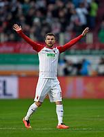 04.02.2018,  Football 1.Liga 2017/2018, 21. match day, FC Augsburg - Eintracht Frankfurt, in WWK-Arena Augsburg. Daniel Baier (FC Augsburg). *** Local Caption *** © pixathlon<br /> <br /> +++ NED + SUI out !!! +++<br /> Contact: +49-40-22 63 02 60 , info@pixathlon.de