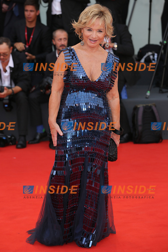 """VENICE, ITALY - AUGUST 28: Alberta Ferretti walks the red carpet ahead of the Opening Ceremony and the """"La Verite"""" (The Truth) screening during the 76th Venice Film Festival at Sala Grande on August 28, 2019 in Venice, Italy., 2019 in Venice, Italy. (Photo by Marck Cape/Inside Foto)<br /> Venezia 28/08/2019"""