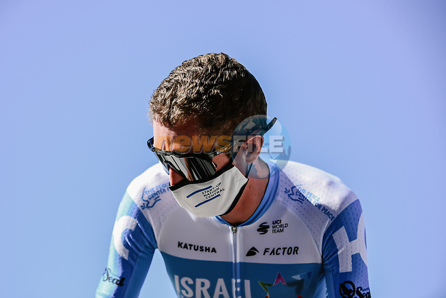 Dan Martin (IRL) Israel Start-Up Nation at sign on before the start of Stage 10 of Tour de France 2020, running 168.5km from Ile d'Oléron to Ile de Ré, France. 8th September 2020.<br /> Picture: ASO/Pauline Ballet | Cyclefile<br /> All photos usage must carry mandatory copyright credit (© Cyclefile | ASO/Pauline Ballet)