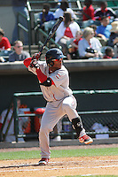 Greenville Drive infielder Wendell Rijo #11 at bat during a game against the Charleston RiverDogs at Joseph P. Riley Jr. Ballpark  on April 9, 2014 in Charleston, South Carolina. Greenville defeated Charleston 6-3. (Robert Gurganus/Four Seam Images)