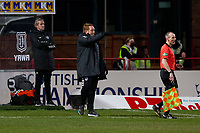 16th March 2021; Dens Park, Dundee, Scotland; Scottish Championship Football, Dundee FC versus Ayr United; Ayr United manager David Hopkin gives directions