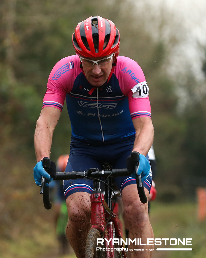 EVENT:<br /> Round 5 of the 2019 Munster CX League<br /> Drombane Cross<br /> Sunday 1st December 2019,<br /> Drombane, Co Tipperary<br /> <br /> CAPTION:<br /> Paul Birchall of Verge Sport PI Cycles in action during the A Race - M50<br /> <br /> Photo By: Michael P Ryan