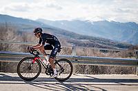 Egan Bernal (COL/Ineos Grenadiers) up the final climb towards the finish up Prati di Tivo<br /> <br /> Stage 4 from Terni to Prati di Tivo (148km)<br /> <br /> 56th Tirreno-Adriatico 2021 (2.UWT) <br /> <br /> ©kramon
