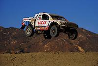Jun. 27, 2009; Lake Elsinore, CA, USA; LOORRS unlimited 4 driver Carl Renezeder jumps during round five at the Lake Elsinore Motorsports Complex. Mandatory Credit: Mark J. Rebilas-