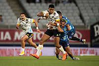 3rd April 2021; Eden Park, Auckland, New Zealand;  Hurricanes winger Salesi Rayasi during the Super Rugby Aotearoa rugby match between the Blues and the Hurricanes held at Eden Park, Auckland, New Zealand.