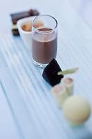 Europe/France/Corse/2B/Haute-Corse/Cap Corse/Saint-Florent: Tapas au chocolat - Recette de Yann Le Scavarec - Hôtel-Restaurant La Roya -