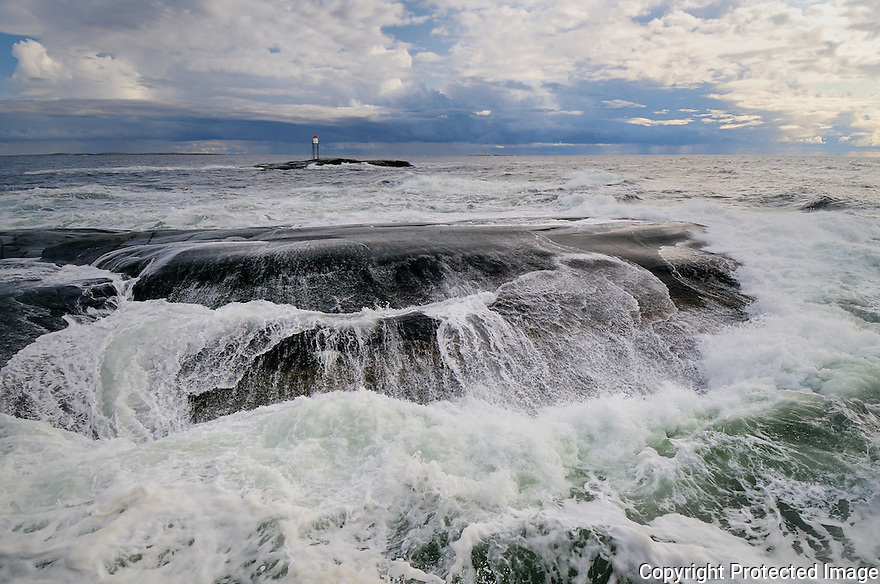 Stormy weather on the norwegian south coast