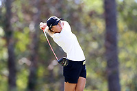CHAPEL HILL, NC - OCTOBER 11: Pauline Roussin-Bouchard of the University of South Carolina tees off at UNC Finley Golf Course on October 11, 2019 in Chapel Hill, North Carolina.