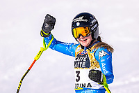 13th February 2021, Cortina, Italy; FIS World Championship Womens Downhill Skiing;  Laura Pirovano of Italy in action after the womens Downhill Race