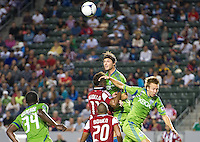 CARSON, CA - August 25, 2012: Seattle defender Jeff Parke (31) during the Chivas USA vs Seattle Sounders match at the Home Depot Center in Carson, California. Final score, Chivas USA 2, Seattle Sounders 6.