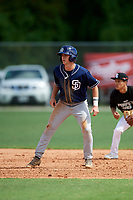 Cade Hungate (23) while playing for Padres Scout Team/Chandler World based out of Winter Garden, Florida during the WWBA World Championship at the Roger Dean Complex on October 21, 2017 in Jupiter, Florida.  Cade Hungate is a third baseman / pitcher / shortstop from Abingdon, Virginia who attends Abingdon High School.  (Mike Janes/Four Seam Images)