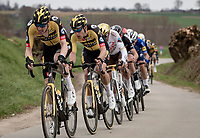 Wout van Aert (BEL/Jumbo-Visma) in Timo Roosen's (NED/Jumbo-Visma) wheel<br /> <br /> 64th E3 Classic 2021 (1.UWT)<br /> 1 day race from Harelbeke to Harelbeke (BEL/204km)<br /> <br /> ©kramon