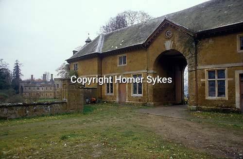 Great Tew Jacobean Manor House and stabling. Oxfordshire 1986
