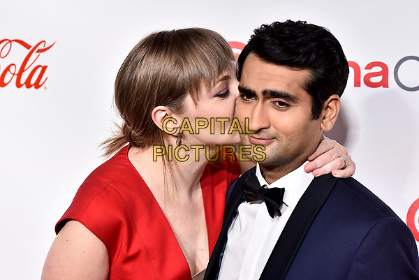 LAS VEGAS, NV - MARCH 30:  Emily Gordon and Kumail Nanjiani at the CinemaCon Big Screen Achievement Awards  at The Colosseum at Caesars Palace during CinemaCon 2017on March 30, 2017 in Las Vegas, Nevada. <br /> CAP/MPI/KLH<br /> ©KLH/MPI/Capital Pictures