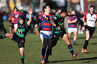 Marty Banks in action during the Canterbury Canstaff Metro Premier Club rugby match between Sydenham and Linwood at Sydenham Park in Christchurch , New Zealand on Saturday, 10 July 2021. Photo: Martin Hunter  / lintottphoto.co.nz
