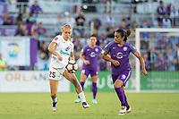Orlando, FL - Saturday July 15, 2017: Brittany Ratcliffe, Marta Vieira Da Silva during a regular season National Women's Soccer League (NWSL) match between the Orlando Pride and FC Kansas City at Orlando City Stadium.