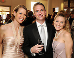 From left: Kristen Habich with Jon and Carol Olson at the Alley Ball held at the Air Terminial Museum at Hobby Airport Saturday May 15,2010.  (Dave Rossman Photo)