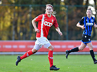 Sylke Calleeuw of Standard (9) pictured during a female soccer game between Standard Femina de Liege and Club Brugge YLA on the seventh matchday of the 2020 - 2021 season of Belgian Scooore Womens Super League , saturday 14 th of November 2020  in Angleur , Belgium . PHOTO SPORTPIX.BE | SPP | DAVID CATRY