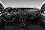Stock photo of straight dashboard view of 2017 Fiat Fiorino Pack 4 Door Car Van Dashboard