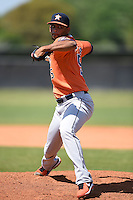 Houston Astros pitcher Richard Rodriguez (55) during a minor league spring training game against the Detroit Tigers on March 21, 2014 at Osceola County Complex in Kissimmee, Florida.  (Mike Janes/Four Seam Images)