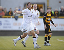 25/08/2009  Copyright  Pic : James Stewart.sct_jspa02_alloa_v_dundee_utd  .ANDIS SHALA CELEBRATE AFTER HE SCORES THE FIRST.James Stewart Photography 19 Carronlea Drive, Falkirk. FK2 8DN      Vat Reg No. 607 6932 25.Telephone      : +44 (0)1324 570291 .Mobile              : +44 (0)7721 416997.E-mail  :  jim@jspa.co.uk.If you require further information then contact Jim Stewart on any of the numbers above.........