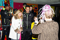 Pictured: Wayne Routledge of Swansea City during the Swansea player and fans bowling evening at Tenpin Swansea, Swansea, Wales, UK. Wednesday 22 January 2020