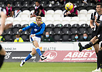 St Mirren v St Johnstone…29.08.21  SMiSA Stadium    SPFL<br />David Wotherspoon's shot is saved by Jak Alnwick<br />Picture by Graeme Hart.<br />Copyright Perthshire Picture Agency<br />Tel: 01738 623350  Mobile: 07990 594431
