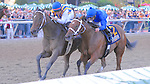 My Miss Aurelia (no. 3), ridden by Corey Nakatani and trained by Steven Asmussen, wins the 43rd running of the grade 1 Cotillion Stakes for three year old fillies on September 22, 2012 at Parx Racing in Bensalem, Pennsylvania.  (Bob Mayberger/Eclipse Sportswire)