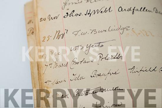 William Butler Yeats signature in the Kilmorna house visitors book