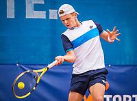 Amstelveen, Netherlands, 1 August 2020, NTC, National Tennis Center, National Tennis Championships, Men's final: Jesper de Jong (NED).<br /> Photo: Henk Koster/tennisimages.com