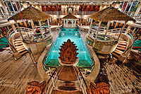 Cruise ship interior