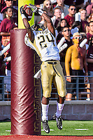 Arkansas Pine-Bluff's Marvante King (24) catches a kick ball in the end zone during first half of NCAA Football game, Saturday, August 30, 2014 in San Marcos, Tex. Texas State leads Arkansas Pine-Bluff 42-0 at the halftime. (Mo Khursheed/TFV Media via AP Images)