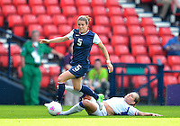 July 25, 2012..Kelley O'Hara (5), USA vs France Football match during 2012 Olympic Games at Hampden Park in Glasgow, England. USA defeat France 4-2 after conceding two goals in the first half of the match...(Credit Image: © Mo Khursheed/TFV Media)