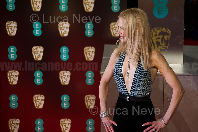 Nicole Kidman.<br /> <br /> London, 12/02/2017. Red Carpet of the 2017 EE BAFTA (British Academy of Film and Television Arts) Awards Ceremony, held at the Royal Albert Hall in London.<br /> <br /> For more information please click here: http://www.bafta.org/
