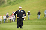 Colin Montgomerie finds time to enjoy a joke on the 16th during the 2nd round of the ISPS Handa Wales Open 2012...01.06.12.©Steve Pope