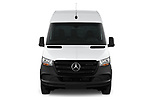 Car photography straight front view of a 2021 Mercedes Benz eSprinter - 4 Door Cargo Van Front View