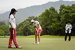 Anais Maggetti of Switzerland putts on the green during the first round of the EFG Hong Kong Ladies Open at the Hong Kong Golf Club Old Course on May 11, 2018 in Hong Kong. Photo by Marcio Rodrigo Machado / Power Sport Images