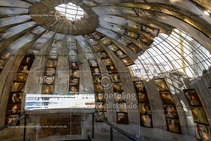 ALBANIA, Tirana , entrance of bunk art 2 museum, during Enver Hoxha communist rule about 200.000 bunker where built in Albania / ALBANIEN, Tirana, Bunk Art 2 Museum, waehrend der kommunistischen Herrschaft von Enver Hodscha wurden ca. 200.000 Bunker in Albanien gebaut