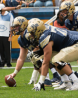 Pitt center Jimmy Morrissey. The Pitt Panthers defeated the Youngstown State Penguins 28-21 in overtime at Heinz Field, Pittsburgh, Pennsylvania on September 02, 2017.