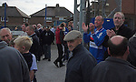 Whitby fans celebrate at full time. Whitby Town 3 Shildon 2, FA CUP 1st Round Qualifying, 15th September 2007.